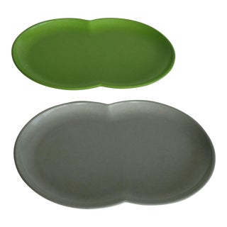 Branchell Melmac Serving Platters - A Pair
