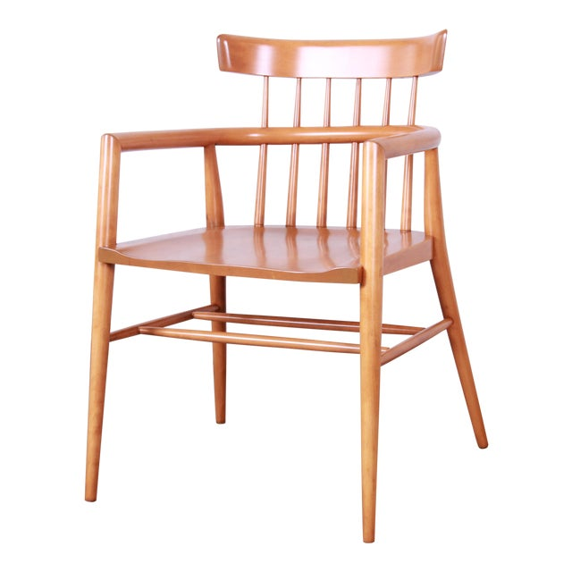 Paul Mccobb Planner Group Solid Maple Spindle Back Armchair