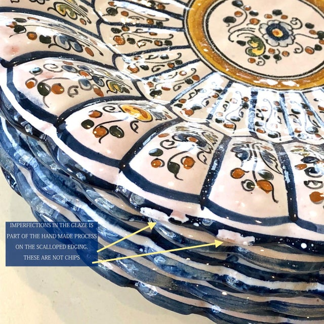 Vintage Talavera Vintage Plates - Set of 8 For Sale - Image 10 of 12