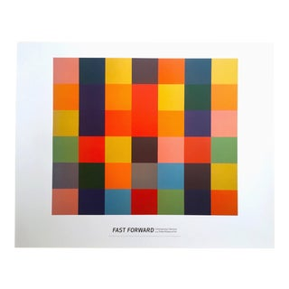 "Ellsworth Kelly Modernist Offset Lithograph Print Museum Exhibition Poster "" Sanary "" 1952 For Sale"