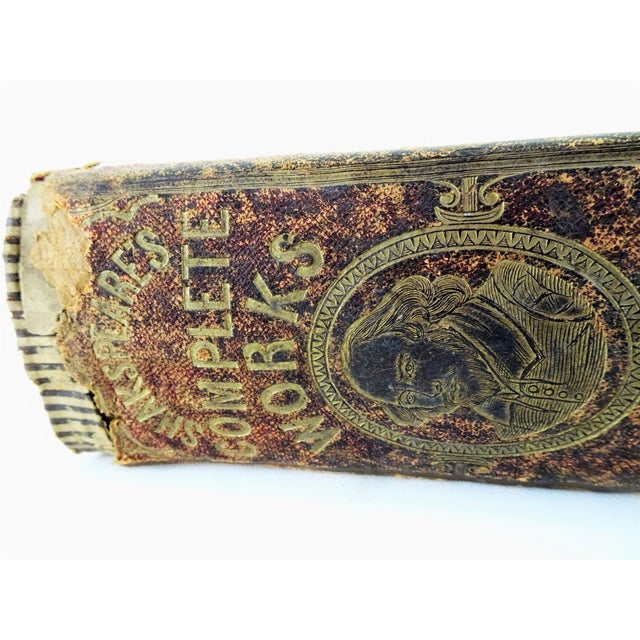 Red Antique Leather Bound Shakspeare Book For Sale - Image 8 of 10
