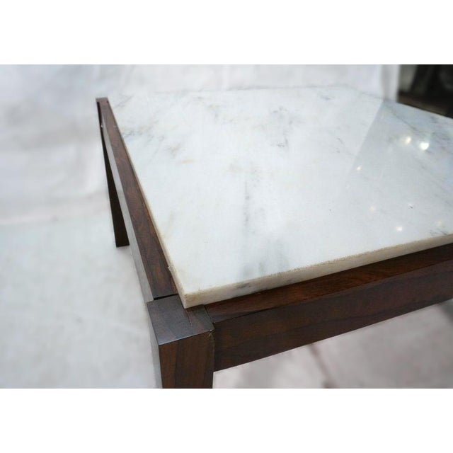 Danish Modern Rosewood & Marble Coffee Table - Image 3 of 10