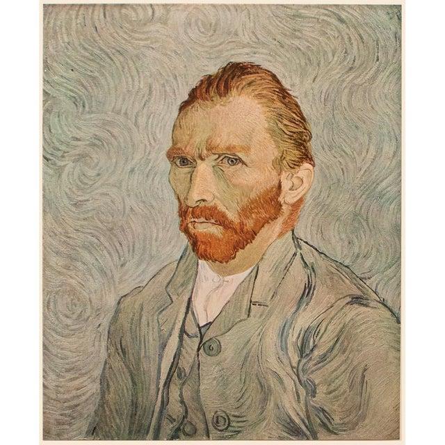 "Celadon 1950s Vincent Van Gogh ""Self-Portrait"", Post-Impressionist First Edition Lithograph For Sale - Image 8 of 10"