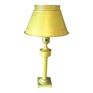 Green Metal Mid-Century Lamp
