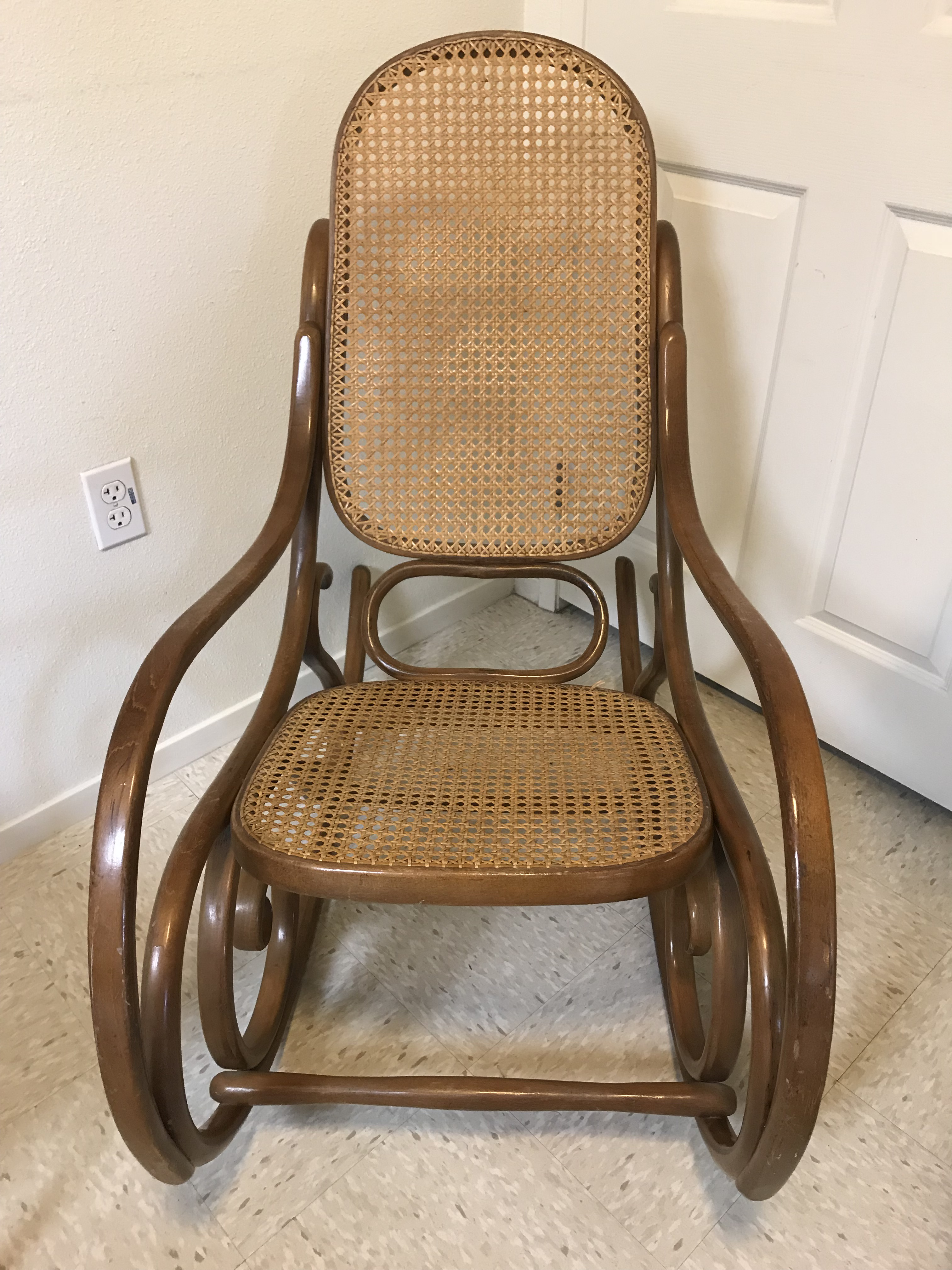 Bentwood Cane Back No. 10 Rocking Chair For Sale   Image 10 Of 10