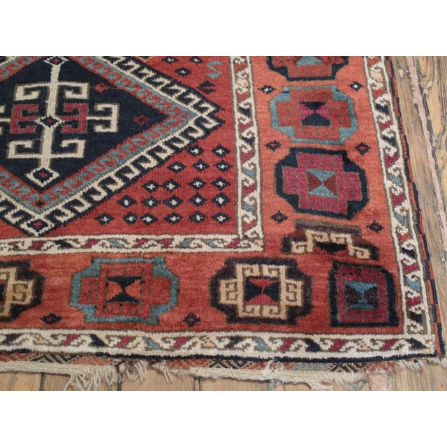 Primitive Antique Kurdish Long Rug For Sale - Image 3 of 9