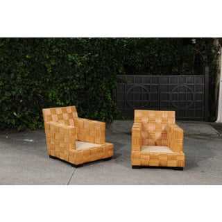 Stunning Pair of Block Island Club Chairs by John Hutton for Donghia Preview