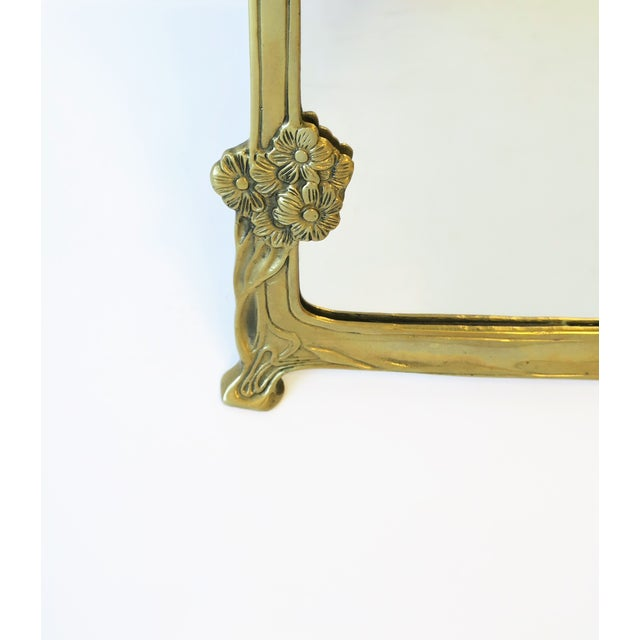 Brass Vanity Mirror in the Art Nouveau Style For Sale In New York - Image 6 of 12