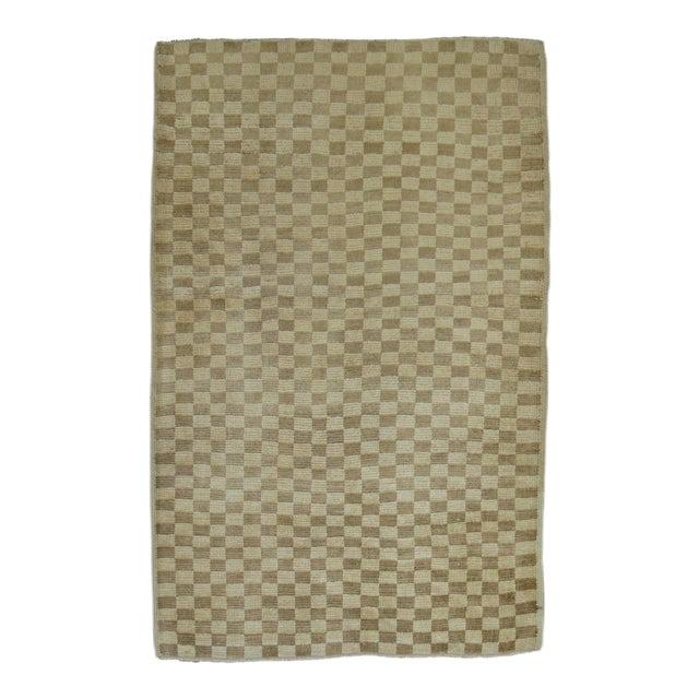 Vintage Turkish Checkerboard Rug 3 3 X 4 8 Chairish