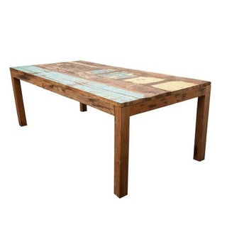 Reclaimed Indonesian Fishing Boat Dining Table For Sale