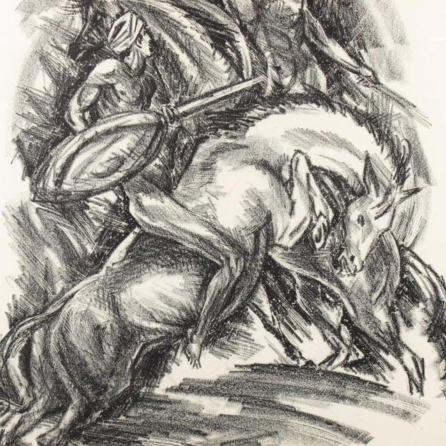 1910s Adolf Uzarski Charcoal Drawing Lithograph For Sale - Image 5 of 11