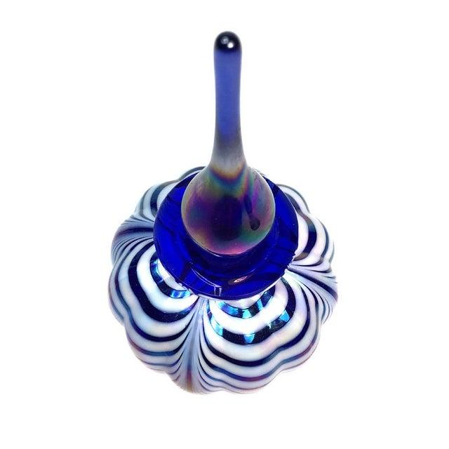 Blue Art Glass Perfume Bottle - Image 2 of 5