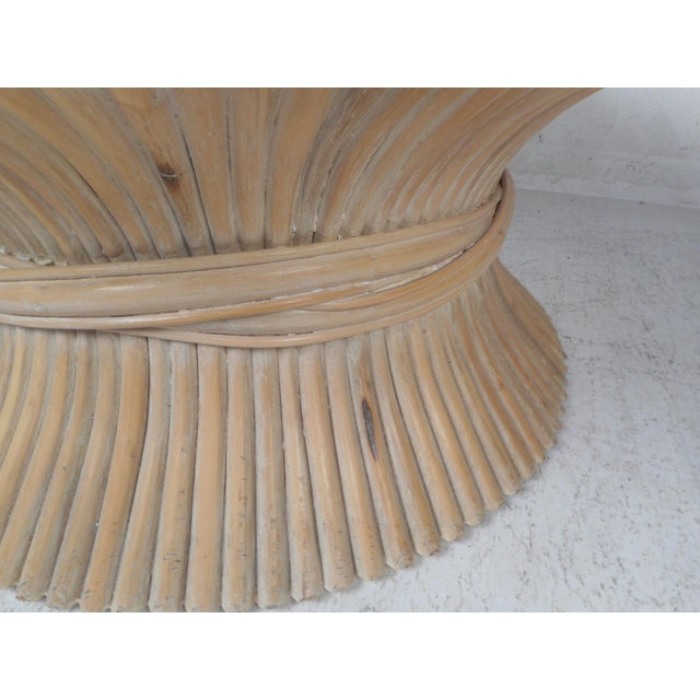 1970s Vintage Modern McGuire Bamboo Wheat Sheaf Coffee Table For Sale - Image 5 of 11