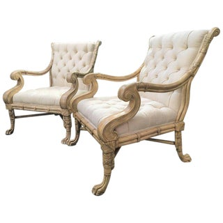Maitland-Smith Bamboo Claw Foot Chairs For Sale