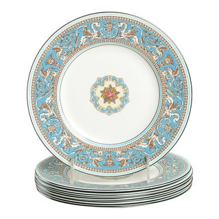 Wedgwood Florentine Turquoise Salad Plate - Set of 6 For Sale