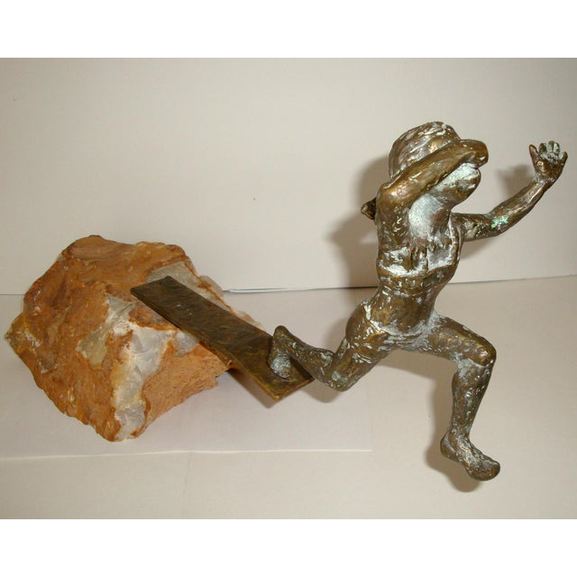 Curtis Jere Bronze Swimmer Sculpture by C. Jere For Sale - Image 4 of 10