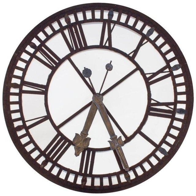 19th C. French Iron and Glass Church Clock Face - Image 11 of 11