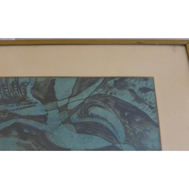 Mixed-Media Mid Century Abstract Mixed Media Painting by Donald Berry For Sale - Image 7 of 13