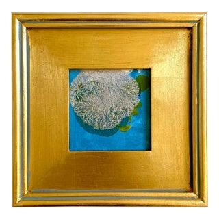 """""""Silver Dollar"""" Mini Painting With Gold Frame For Sale"""