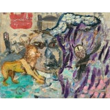 Image of Expressionist Painting, Trial With a She Devil by Regina Gately For Sale