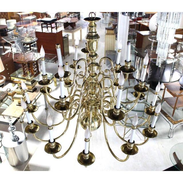 Traditional Vintage Brass Candelabra Chandelier For Sale - Image 3 of 10