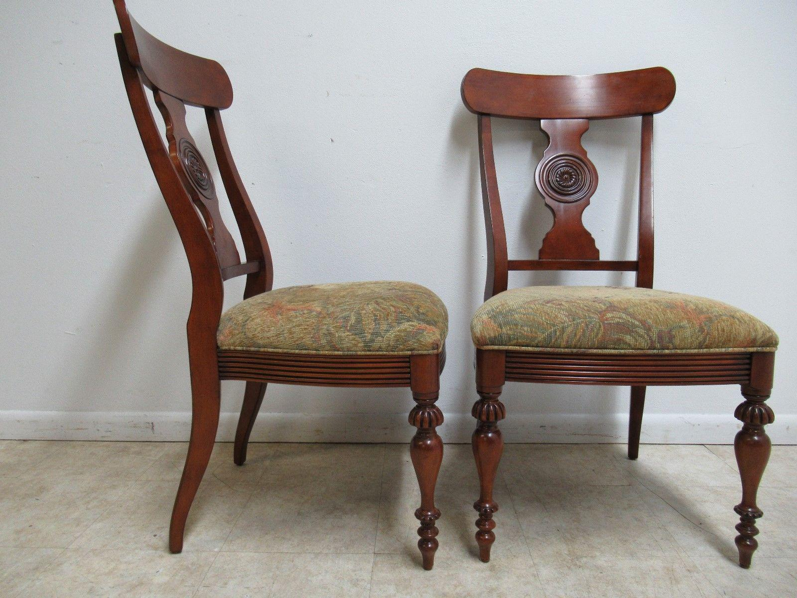Ethan Allen British Classics Carved Dining Chairs   Image 8 Of 10