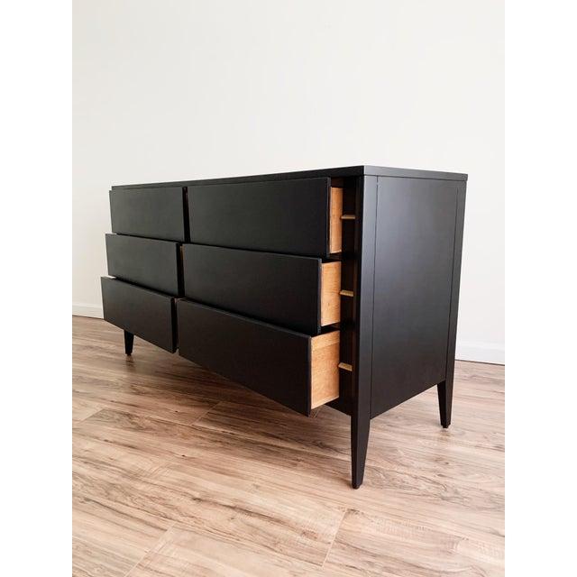 Black Mid Century Modern Matte Black Dresser For Sale - Image 8 of 10