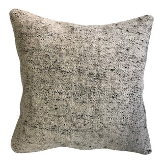 Antique Turkish Handmade White Kilim Pillow For Sale
