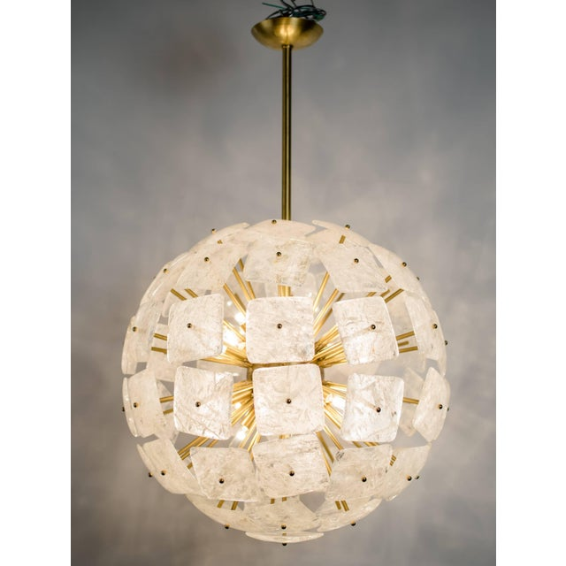 "Large Sputnik Rock Crystal Chandelier ""Nova"", Limited Edition For Sale In New York - Image 6 of 10"