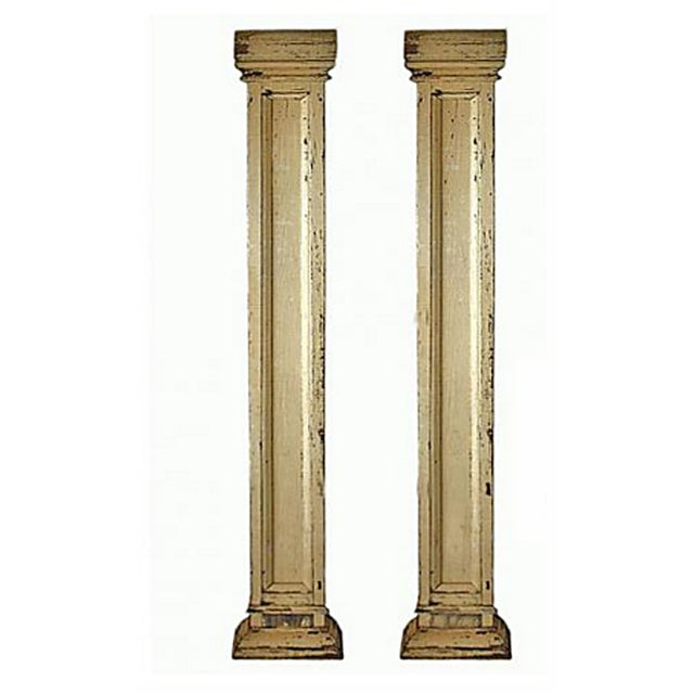 Antique Decorative Architectural Columns - Pair - Image 2 of 9