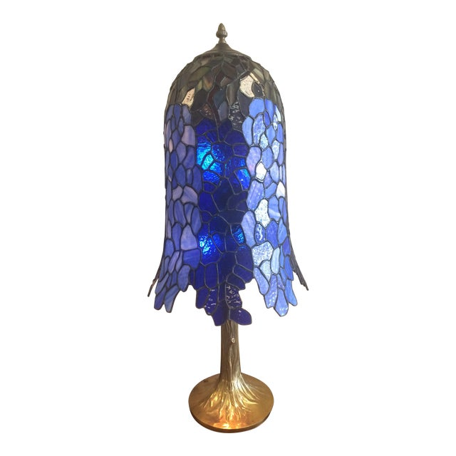 Somers Stained Glass Lamp For Sale