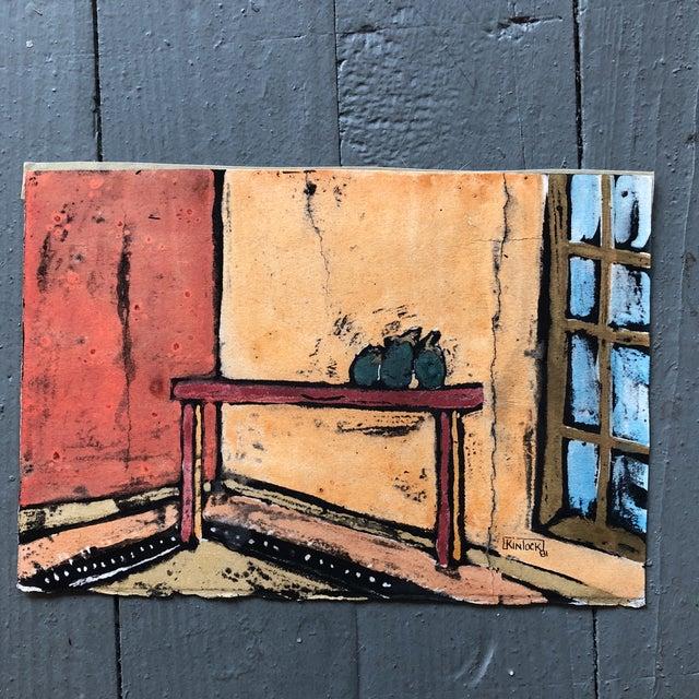 """Expressionism Collection 11 Original Vintage Gouache Paintings """"Sur La Table"""" For Sale - Image 3 of 13"""