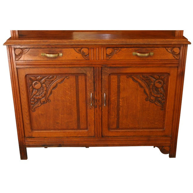 Vintage French Cabinet & Hutch For Sale - Image 4 of 8