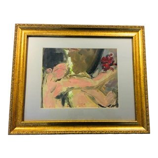 Vintage Ralph Neaderland Oil on Paper the Offering Painting For Sale