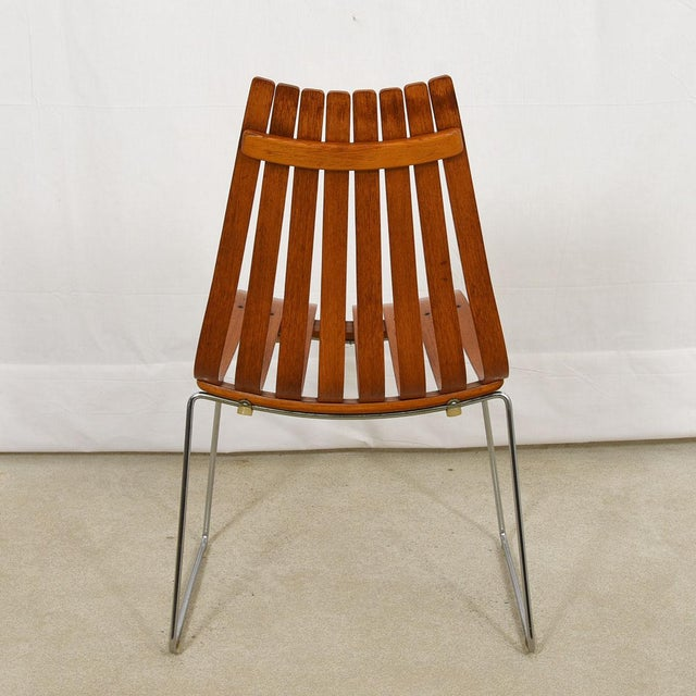"""Set of 8 Norwegian Modern """"Scandia"""" Teak Dining Chairs by Hans Brattrud For Sale In Washington DC - Image 6 of 8"""
