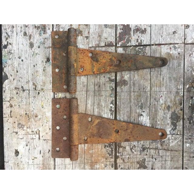 Metal Antique Barn Door Hinges For Sale - Image 7 of 7 - Antique Barn Door Hinges Chairish