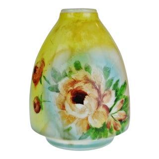 Vintage Glass Floral Design Lamp Body For Sale