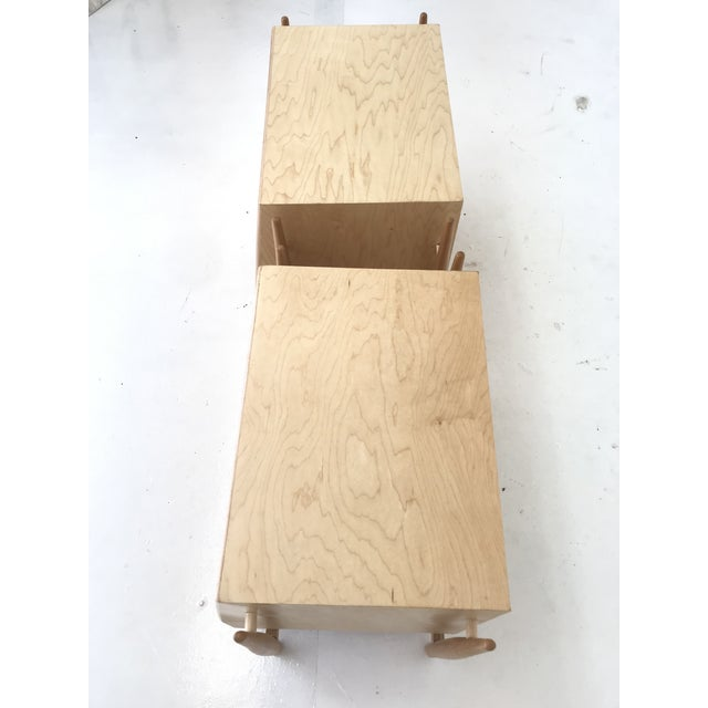 Handmade Sculptural Nighstands in Maple For Sale - Image 10 of 13