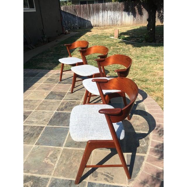 1960s Danish Modern Teak Dining Chairs by Kai Kristiansen for Korup Stolefabrik - Image 7 of 10