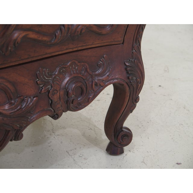 1990s John Widdicomb French Louis XV Style Carved 2 Drawer Chest For Sale - Image 5 of 11
