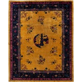 Image of Early 20th Century Antique Art Deco Chinese Wool Rug 9 X 11 For Sale