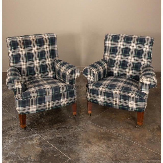 Mid-Century Modern Pair Mid-Century Lounge Armchairs For Sale - Image 3 of 13
