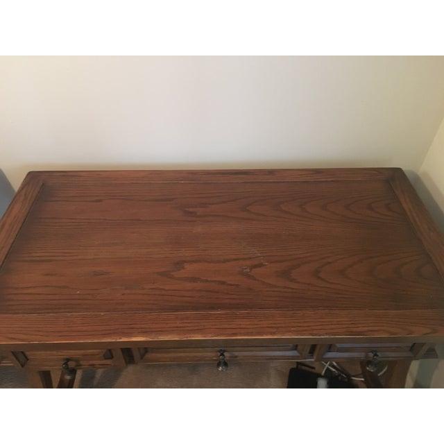 Hekman Spanish Trestle Desk/Writing Table - Image 5 of 5