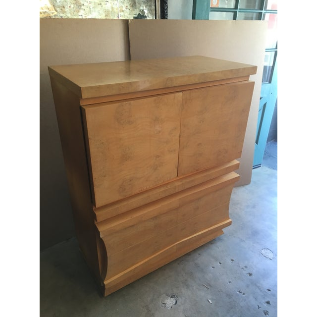 Mid-Century Birds Eye Maple Highboy Dresser For Sale - Image 10 of 11