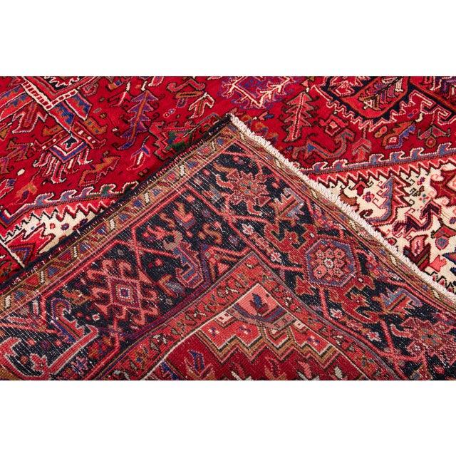 "1960s Vintage Persian Heriz Rug, 10'2"" X 12'10"" For Sale - Image 5 of 12"