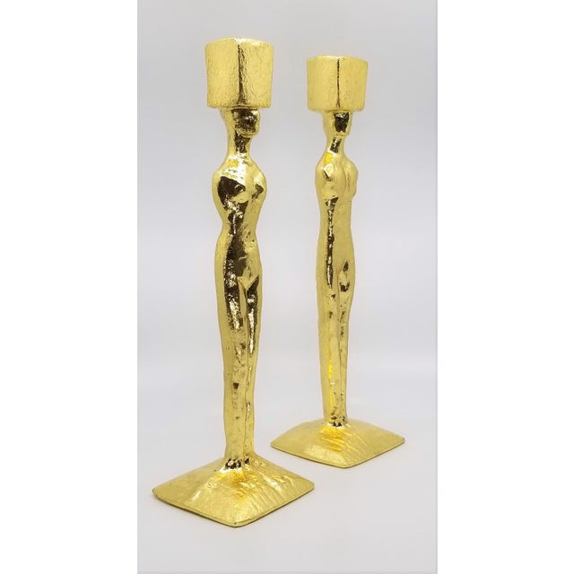 Mid Century Modern Candlesticks - Candle Holders - Giacometti Style - Restored For Sale - Image 13 of 13