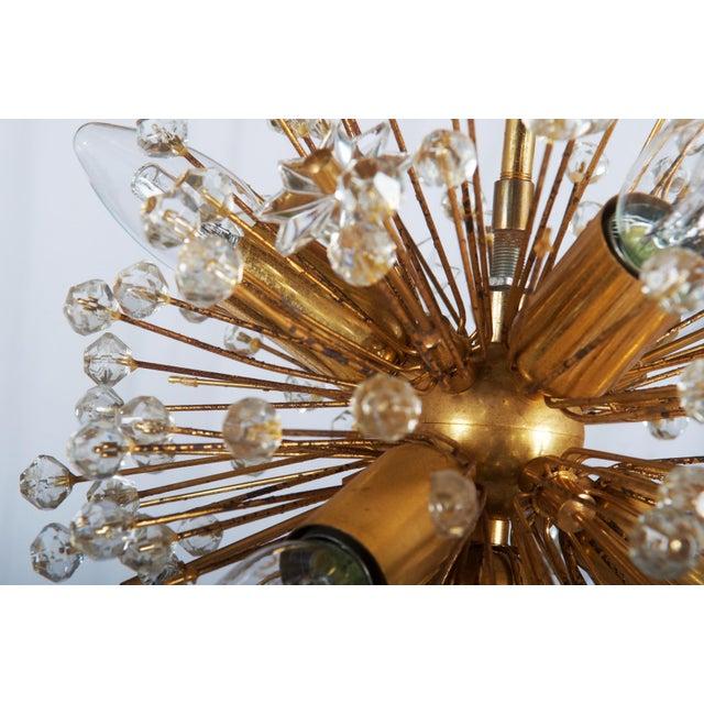 Gilded Sputnik Chandelier, 1972 For Sale - Image 9 of 11