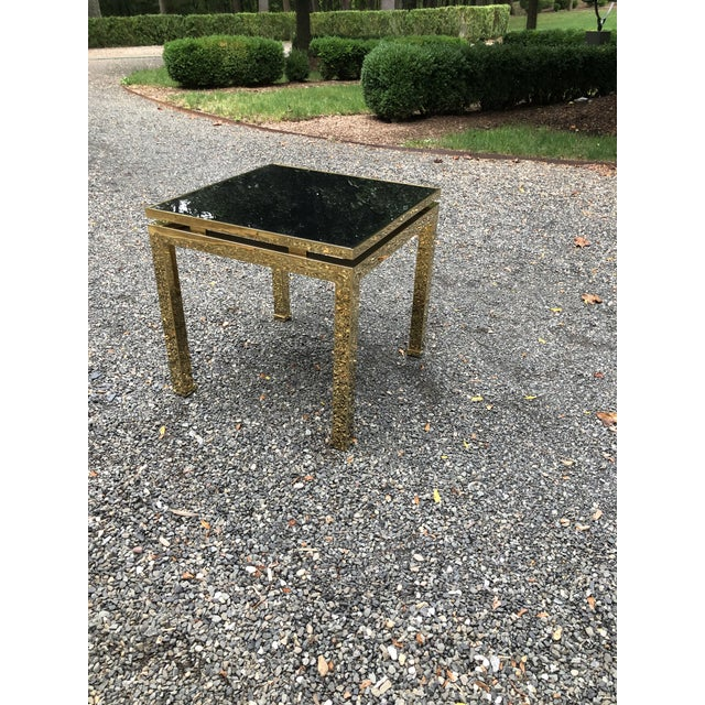 1970s French Maison Jansen Brass Occasional Table For Sale - Image 12 of 12