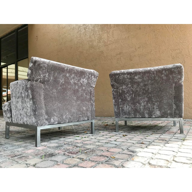 Krug Furniture Modern Carlyle Lounge Chairs - a Pair For Sale - Image 4 of 7