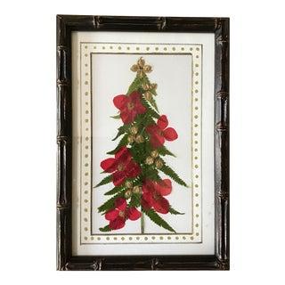 Hand Made Botanical Christmas Tree Collage For Sale